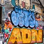 """Blue,Yellow and Green Grafitti,Melbourne,Australia"" by mjphoto-graphics"