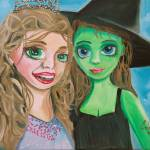 """ELPHABA AND GLINDA by Gordon Bruce"" by GORDONBRUCEART"