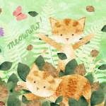 """Foliage Frolics - cats in leaves"" by chop-stix"