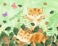 Foliage Frolics - cats in leaves