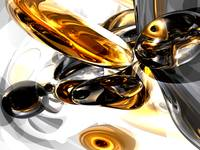 Black Amber Abstract