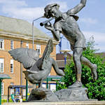 """Boy and the Goose Statue, Derby (18169-RDA)"" by rodjohnson"