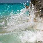 """Waves crashing on coast, Rose Island, Bahamas"" by shanepinder"