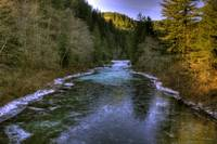 0133 Up Washougal River On Fish Hatcher Bridge
