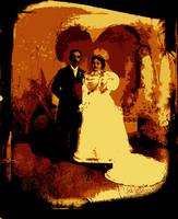 Homage, studio portrait, 1880's Hispanic wedding