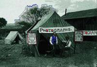 Homage, photographers' tent, 1880's