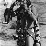 """Aztec Indian photographer with cameras,  Gallup"" by davidleeguss"