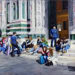 """""""Sitting on the Steps of the Duomo"""" by matteopaints"""