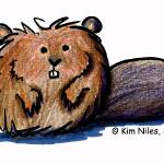 """Beaver Caricature"" by KiniArt"