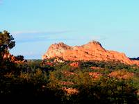 Garden of the Gods as seen from Rampart Range Road