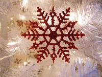 Christmas Snow Flake, Red