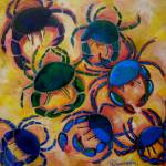 """Blue Crabs"" by artbypatti"
