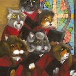 """Cat Art Gospel Church Choir"" by taraflyphotos"