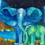 """Bathe me in Thy Light Elephant 3"" by ArtSamadhi"