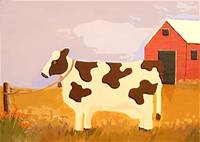 Folk Art Cow