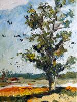 A Tree Along My Way Oil Painting Ginette Callaway