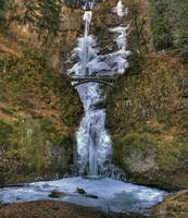 0142 Multnomah Falls Frozen Panoramic