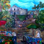 """Saturday at Alamo Plaza"" by artbypatti"