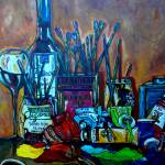 """My art studio"" by artbypatti"