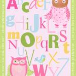 """Owl Alphabet"" by CuddlebugsArtStudio"
