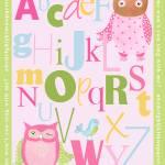 """""""Owl Alphabet"""" by CuddlebugsArtStudio"""