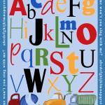 """Alphabet Construction Vehicles"" by CuddlebugsArtStudio"