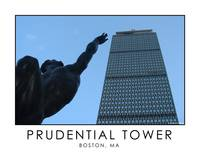 Prudential Tower - Statue Reaching for the Top