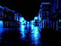 midnight in the streets of burano