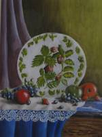 Still Life plate and fruit