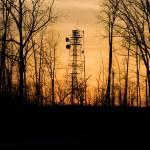 """Communications Tower, Sunset"" by berdandy"