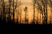 Communications Tower, Sunset