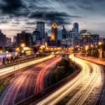 """Downtown Minneapolis from I-35W"" by carbonsilver"
