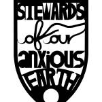 """stewards of our anxious earth (black)"" by grinandgrit"