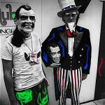 """Homage,  William Klein, Nixon masks, Miami Beach"" by davidleeguss"