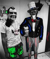 Homage,  William Klein, Nixon masks, Miami Beach