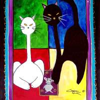 """CATS   Whats for Lunch"" by Dottie Cooper Katz"