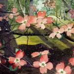 """""""Floral Landscape - Pink Dogwoods in Nashville TN"""" by artprint"""