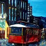 """Nashville Cityscape Painting - Nashville Trolley"" by artprint"
