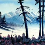 """Landscape Painting - Mountain Snow"" by artprint"