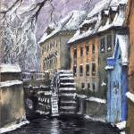 """Prague Chertovka 1 Winter"" by shevchukart"