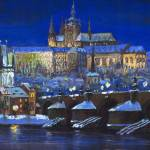 """Prague Winter Panorama"" by shevchukart"