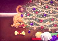 Under the Christmas Tree Card Display