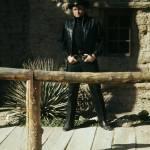 """John Wayne, Johnny Cash by rail, Old Tucson, AZ"" by davidleeguss"