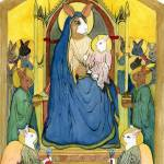 """Madonna Bunny Enthroned"" by krauseda"
