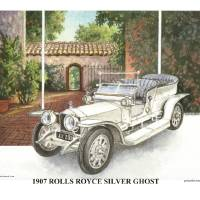 1907 Rolls Royce Silver Ghost Art Prints & Posters by Glenn Lewis