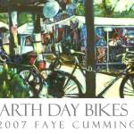 """EARTH DAY BIKES II"" by artistfaye"