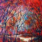 """Red Fall Stream"" by jeanvadalsmith"