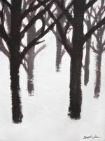 Winter Tree Branches Painting