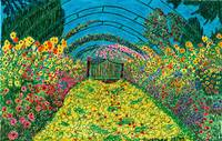 Monet's Rose Arch,Giverny France.