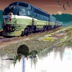 """Summer of 1956 Northern Pacific"" by ColoradoArt"